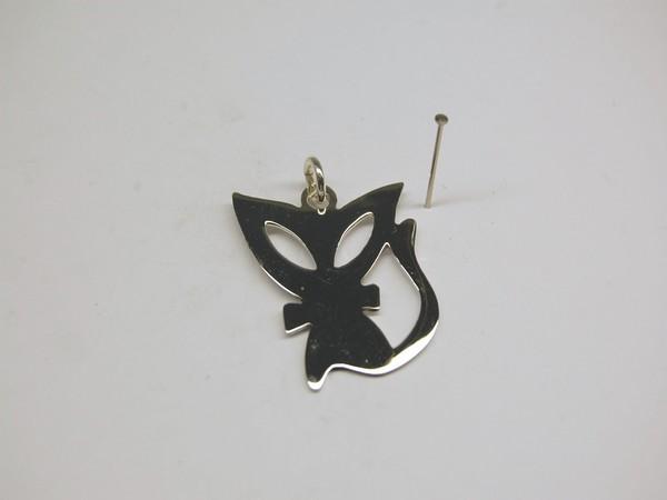 Stříbrný přívěsek kočka Přívěsek kočka 3 cm