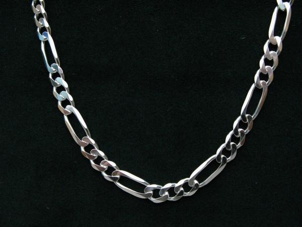 Řetízek figaro 55cm - stříbro Řetízek figaro silný 40g