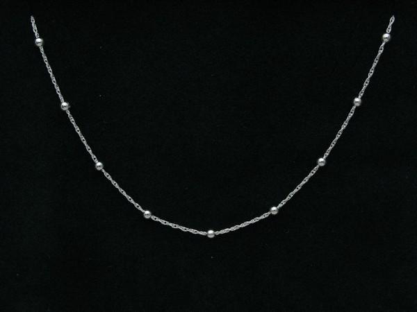 Řetízek 40, 45cm - stříbro Řetízek kroucený s kuličkou