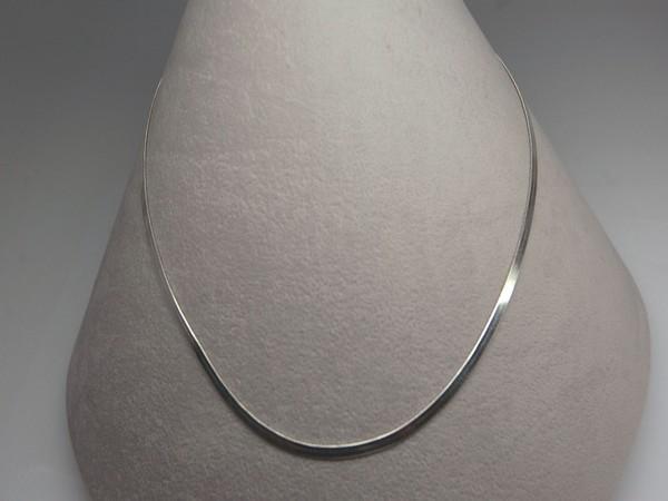 Řetízek 40cm plochý - stříbro Řetízek 40cm plochý