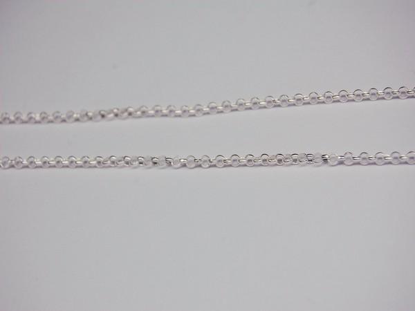 Řetízek 50cm - stříbro Řetízek očkový