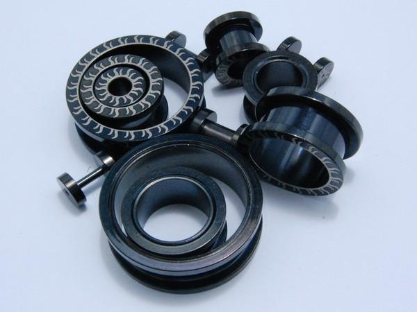 Tunel - černý - 1.2,až 24mm Tunel , velikost 1.2,1.6,2, 3,4,5,6,8,12,14,18,22,24mm