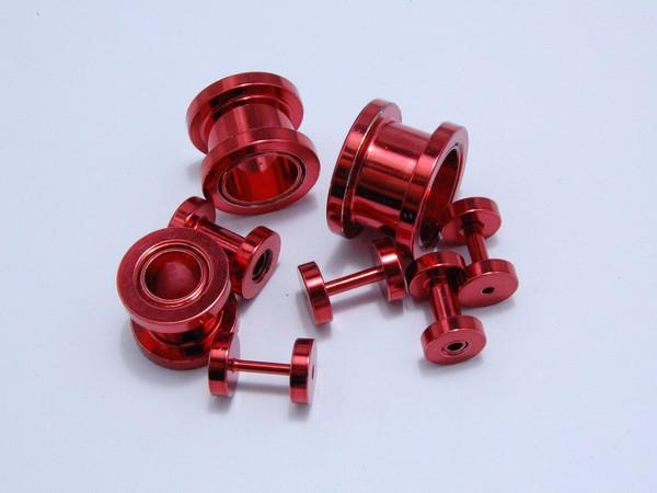 Tunel - červený - 1.2,až 12mm Tunel , velikost 1.2,1.6,2, 3,4,10,12mm