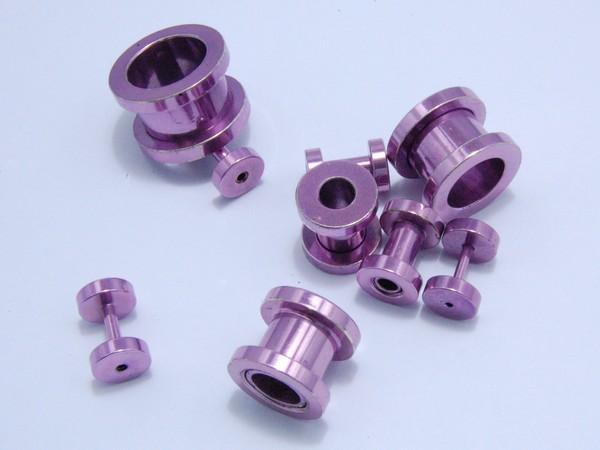 Tunel - fialový - 1.2,až 12mm Tunel , velikost 1.2,1.6,2, 3,4,6,810,12mm