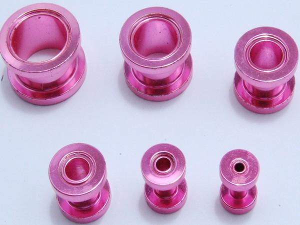Tunel - růžový - 3,až 12mm Tunel , velikost 3,4,6,810,12mm