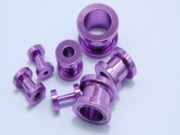 Tunel - fialový - 2,až 12mm Tunel , velikost 2, 3,4,6,8,10,12mm