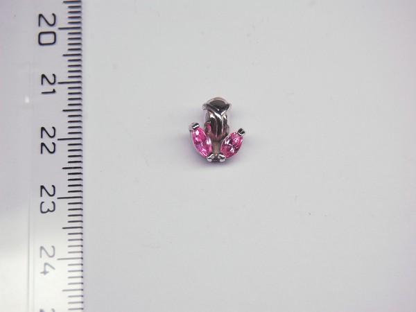 Stříbrný přívěsek - růžový