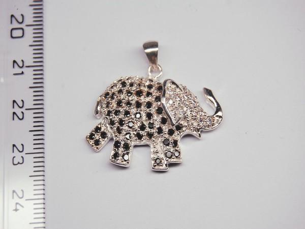 Stříbrný přívěsek -slon