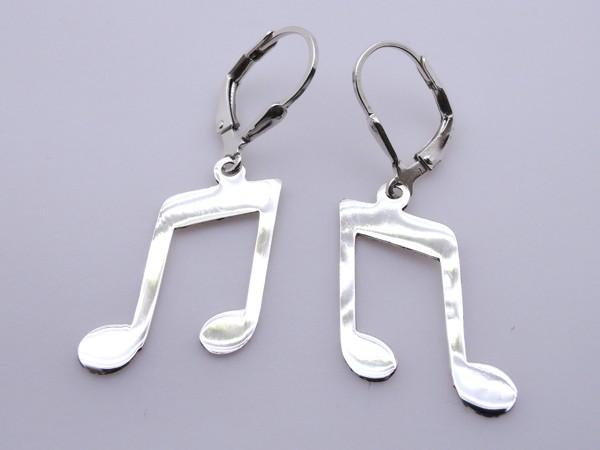 Stříbrné naušnice - nota