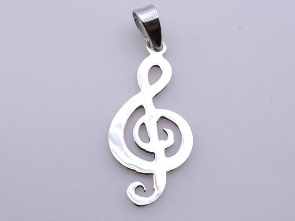Stříbrný přívěsek housový klíč houslový klíč