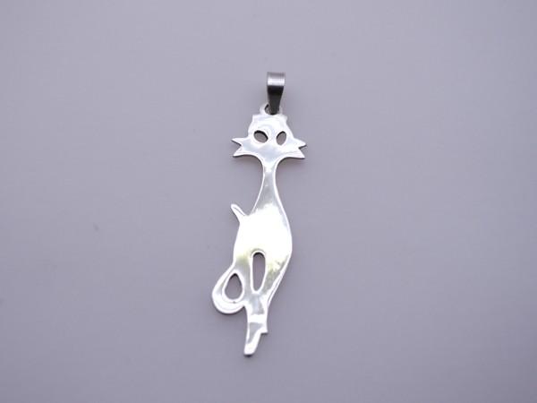 Stříbrný přívěsek - kočky kočka