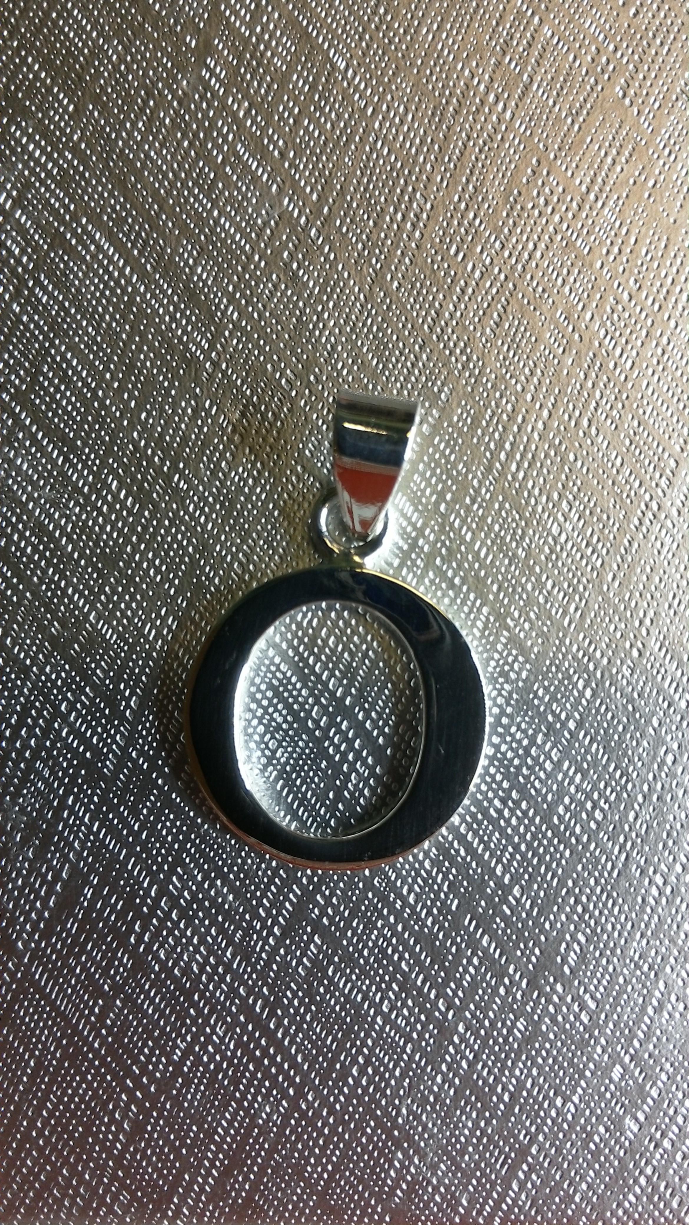Ag/925 stříbrná písmena - písmenko O písmeno O