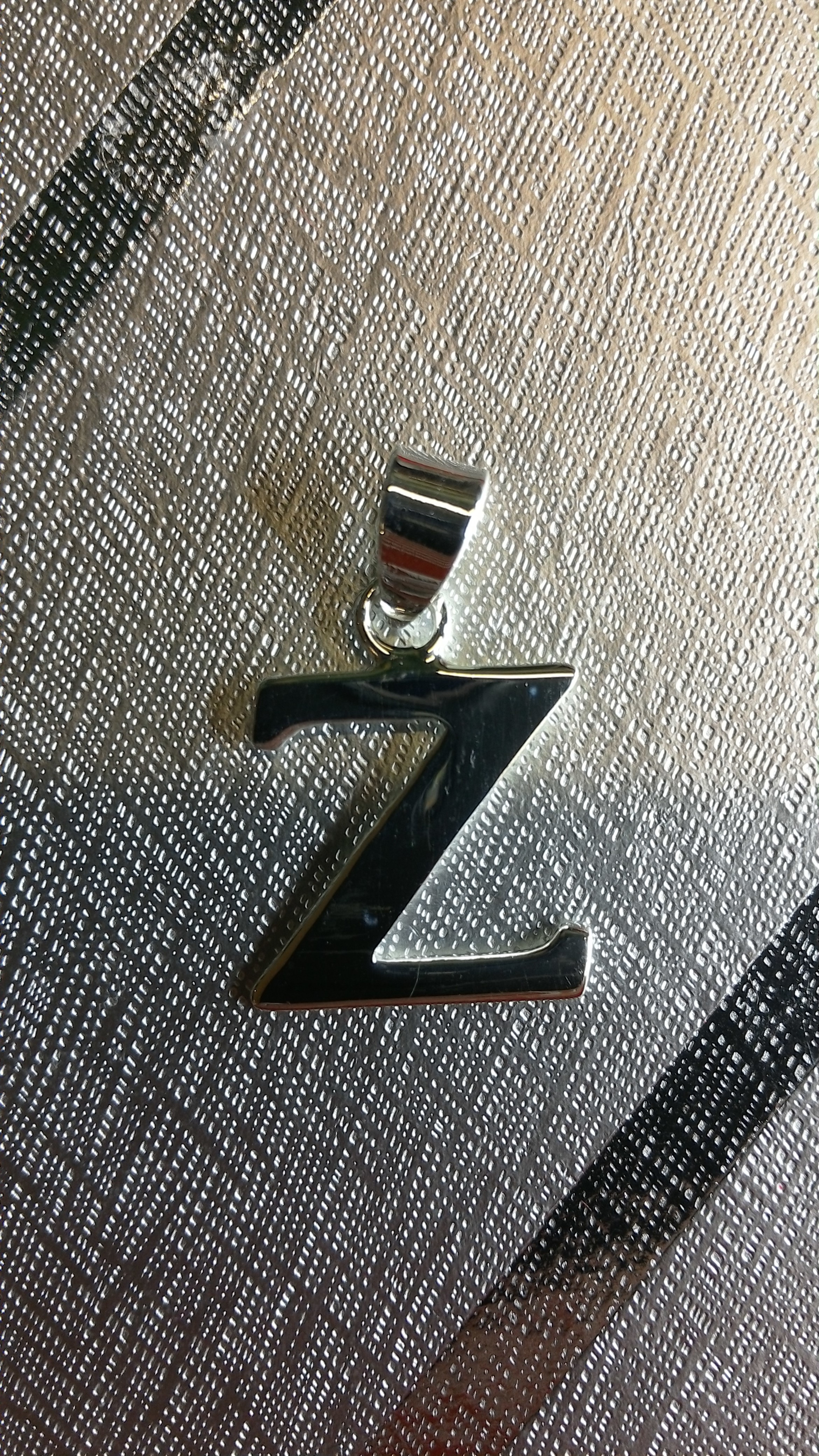 Ag/925 stříbrná písmena - písmenko Z písmeno Z