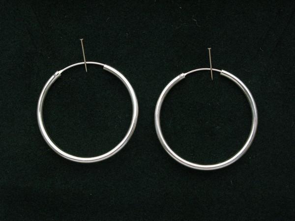 Stříbrné náušnice kruhy 4cm, Náušnice kruhy 4cm,